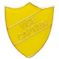 ShieldBadge Vice Captain Yellow</br>SB014Y